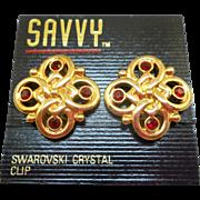 Swarovski Savvy Red Earrings