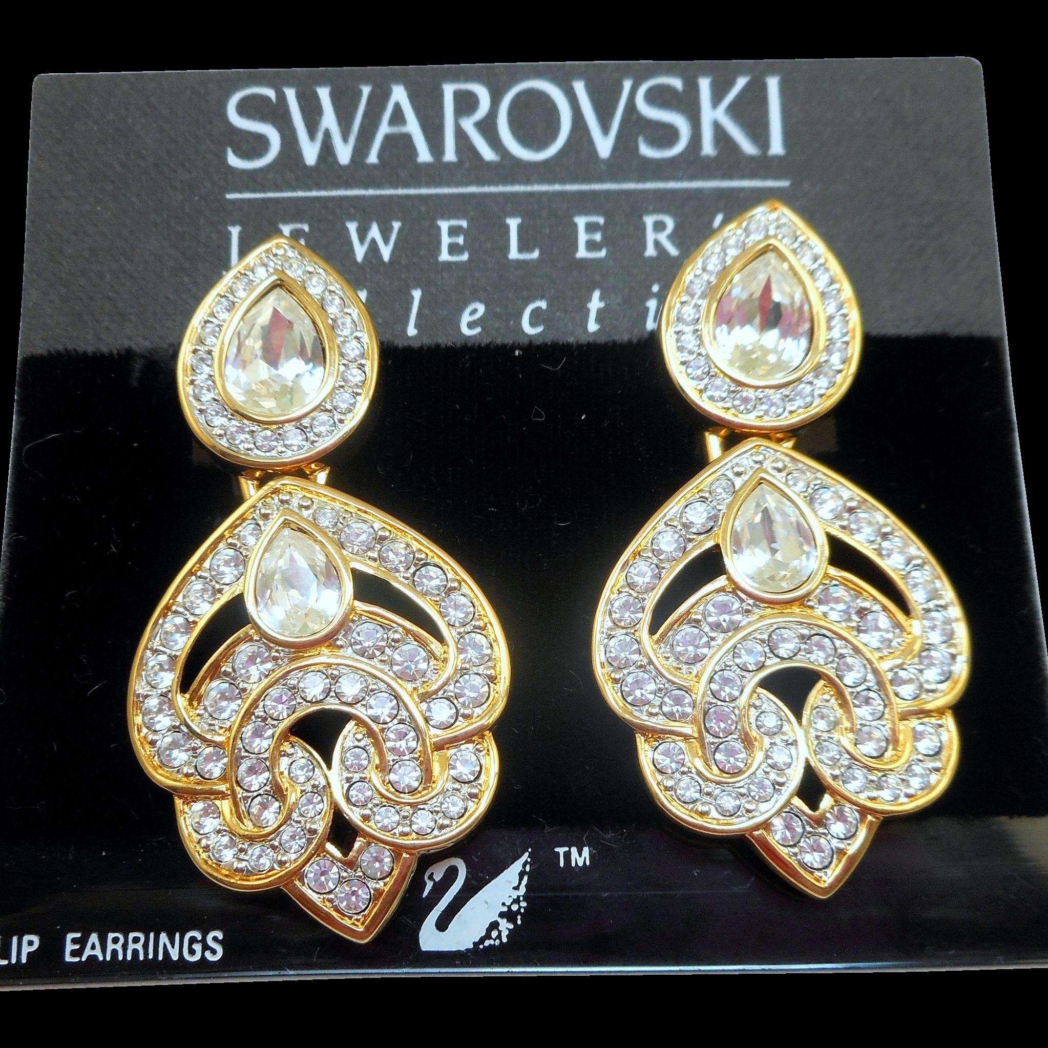 Swarovski Runway Earrings - MOC