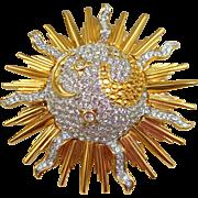 Swarovski Sun Brooch