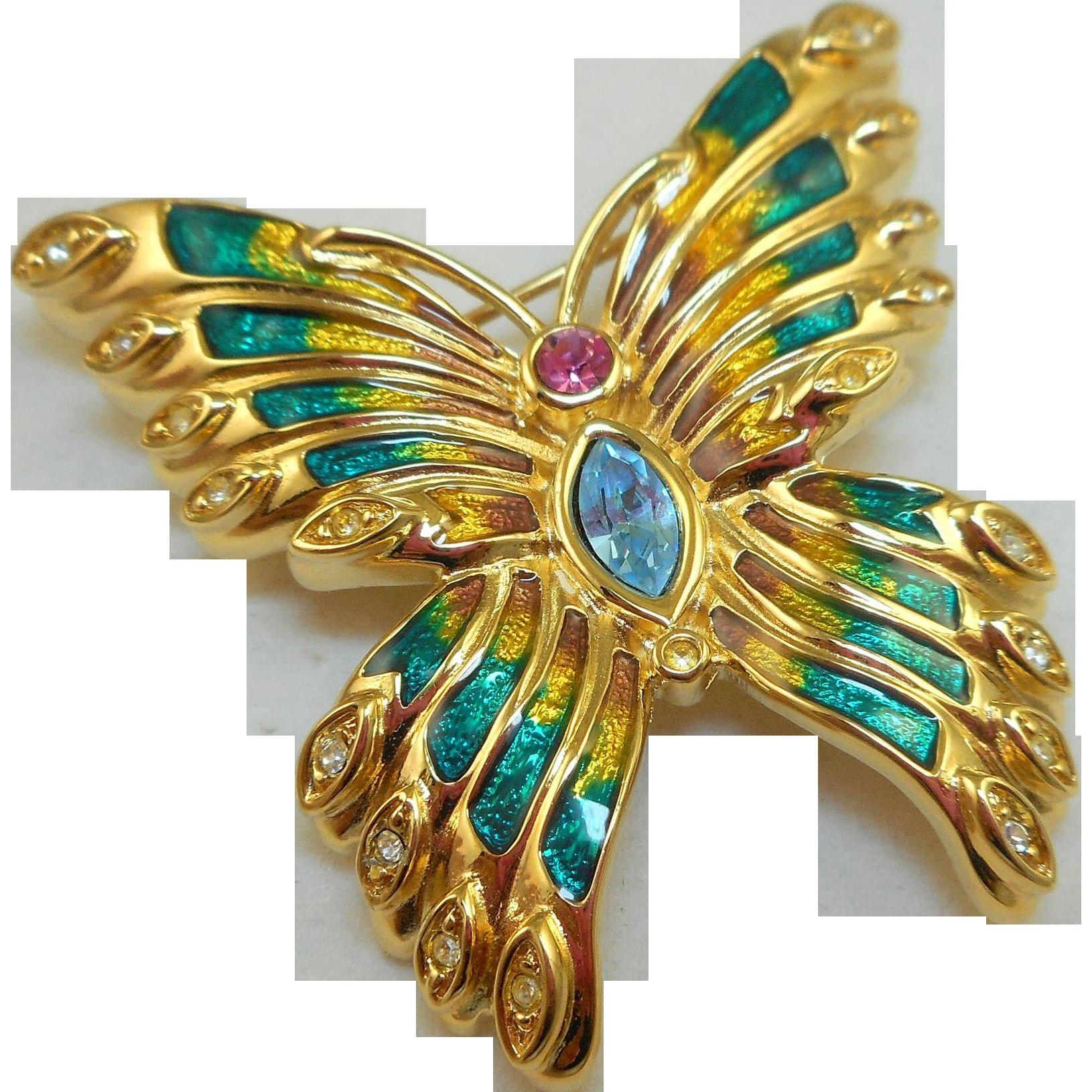 Bob Mackie Butterfly Brooch