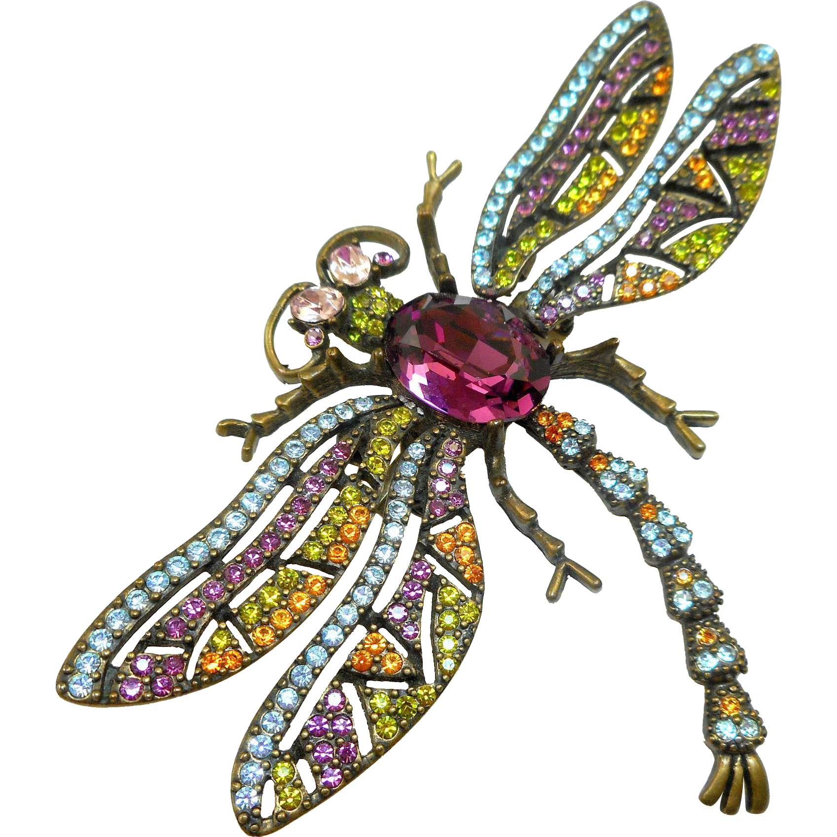 Dragonfly Trembler Brooch