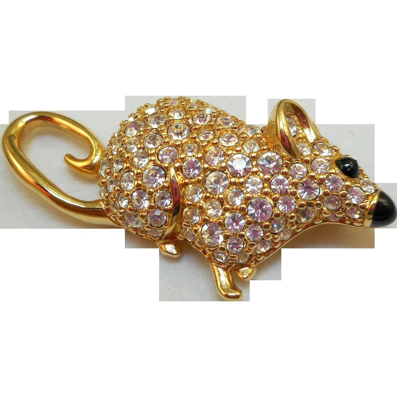 Swarovski Mouse Pin