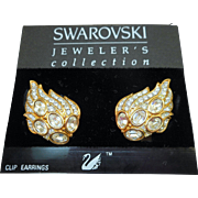 Swarovski Wing Earrings - MOC