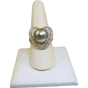Sterling Black Pearl Ring