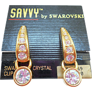 Swarovski Savvy Earrings - MOC