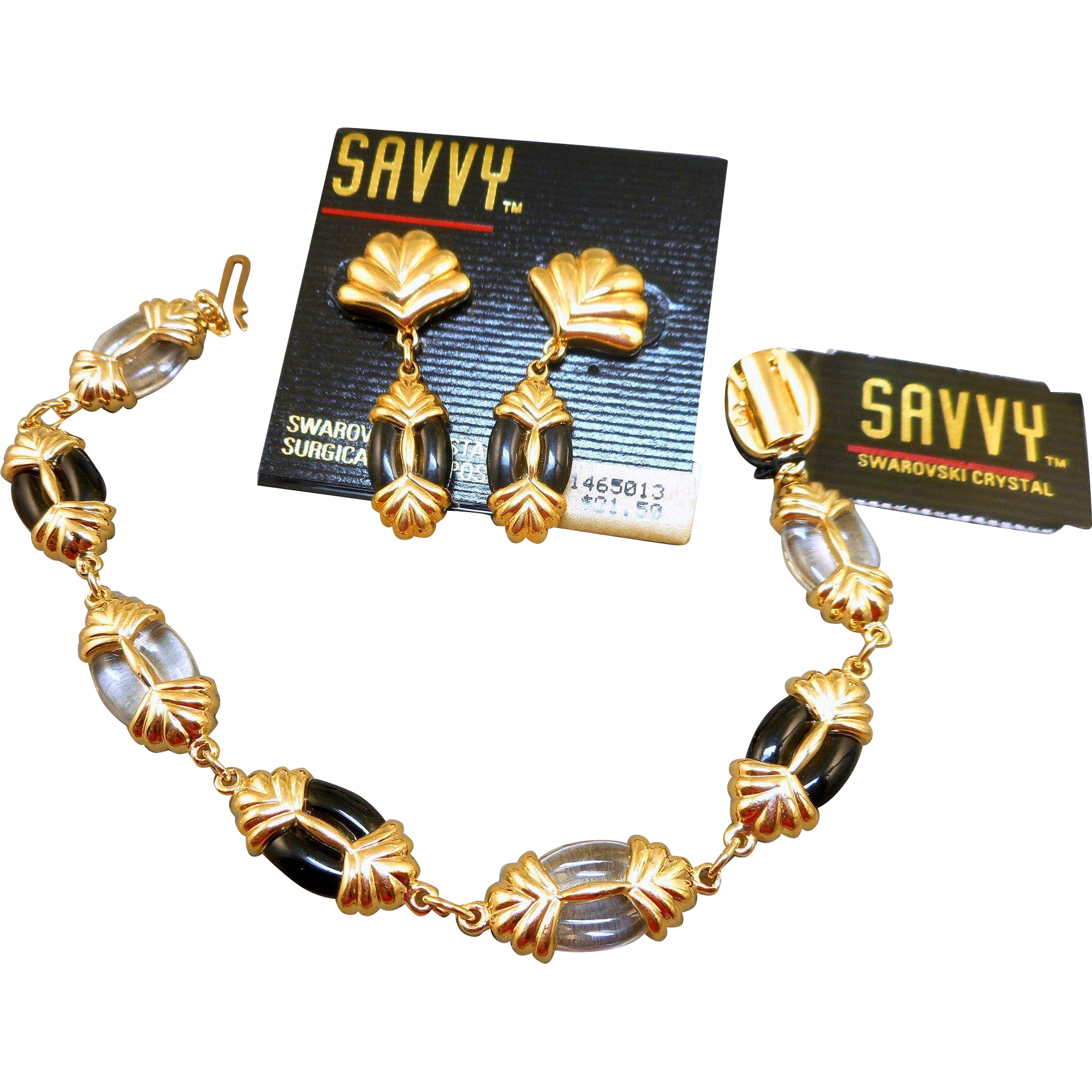 Swarovski Savvy Bracelet Earrings Set - MWT