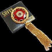NOS Swarovski Savvy Brooch with Tassel - MOC