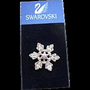 Swarovski Snowflake Tac Pin
