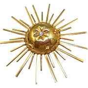 Vintage Sunburst Pin