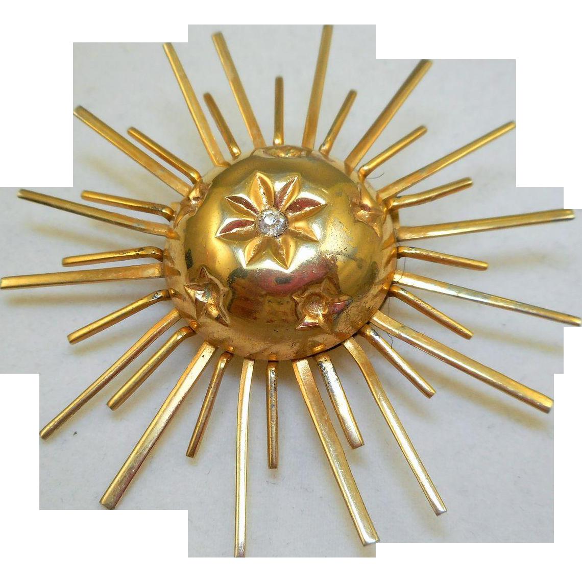 Vintage Sunburst Pin