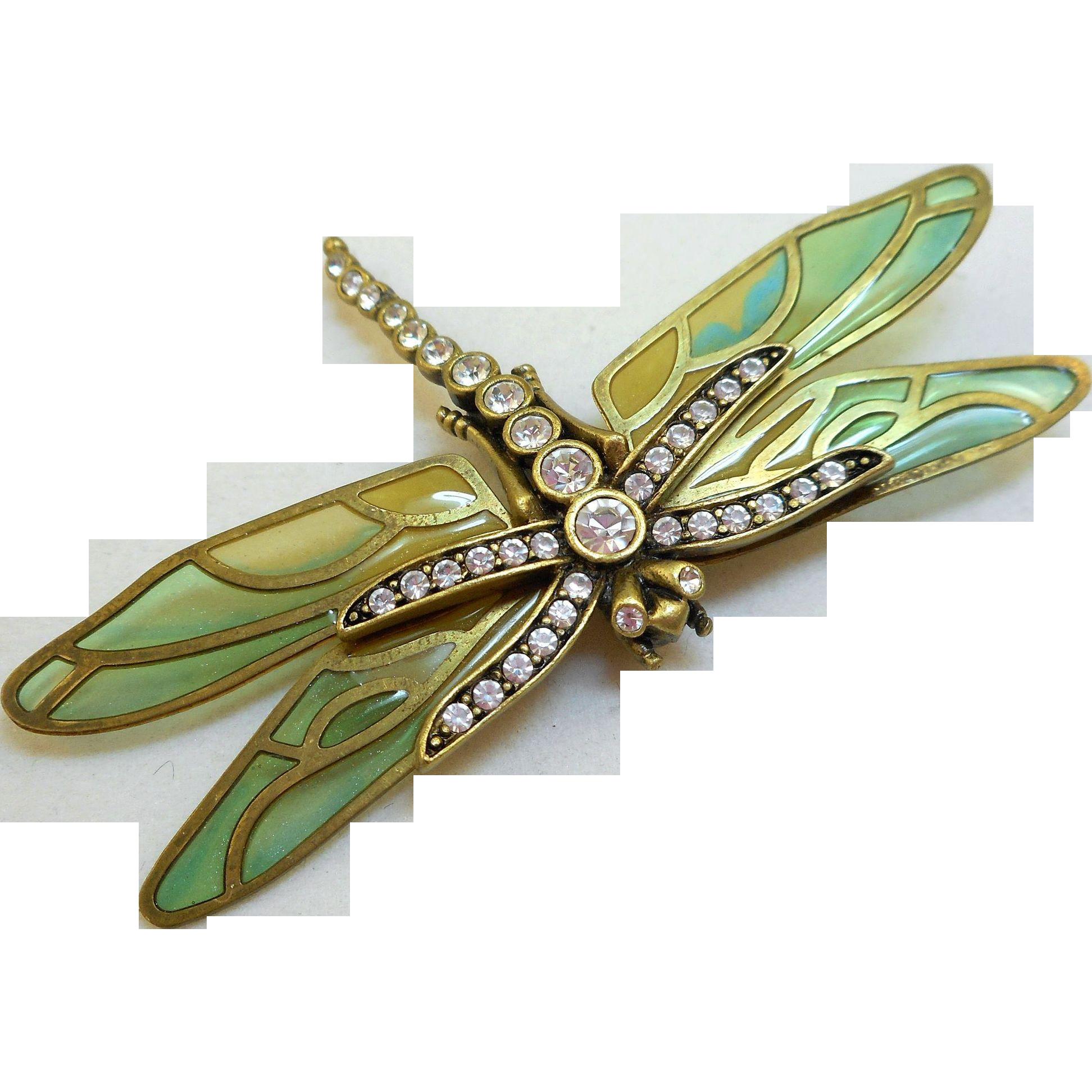 Kenneth J Lane Dragonfly Brooch