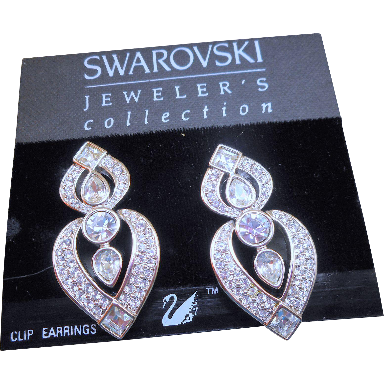 Swarovski Runway Earrings - MOC