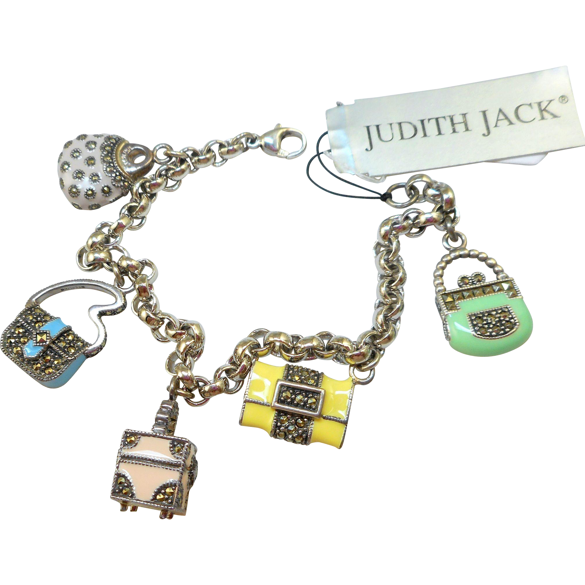 Judith Jack Charm Bracelet with Purses - NOS