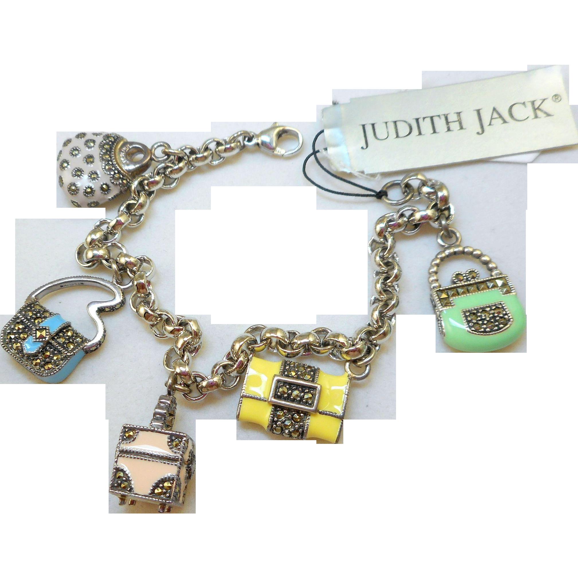 Judith Jack Charm Bracelet With Purses Nos Alison S Antiques Vintage Jewelry Ruby Lane