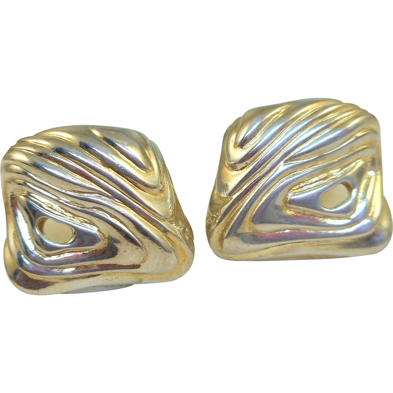 Angela Cummings Sterling Modernist Earrings
