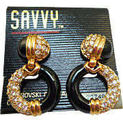 Swarovski Savvy Dangly Hoop Earrings - MOC