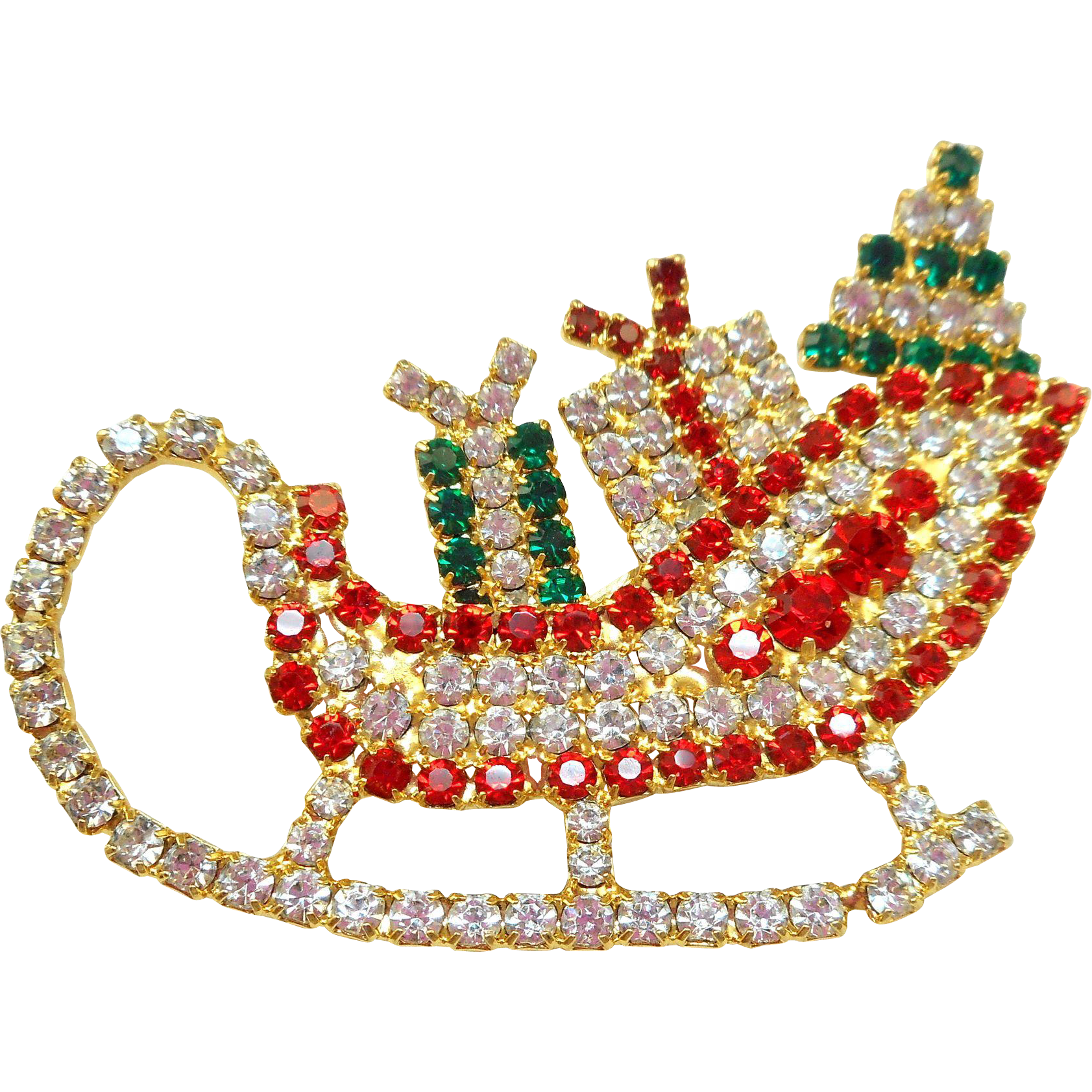 Vintage Christmas Sleigh Pin