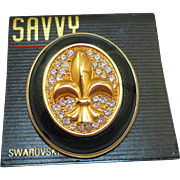 Swarovski Fleur de Lis Pin - NOS