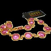 NOS Swarovski Savvy Pink Crystal Bracelet