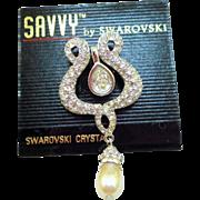 Swarovski Savvy Lyre Brooch - MOC