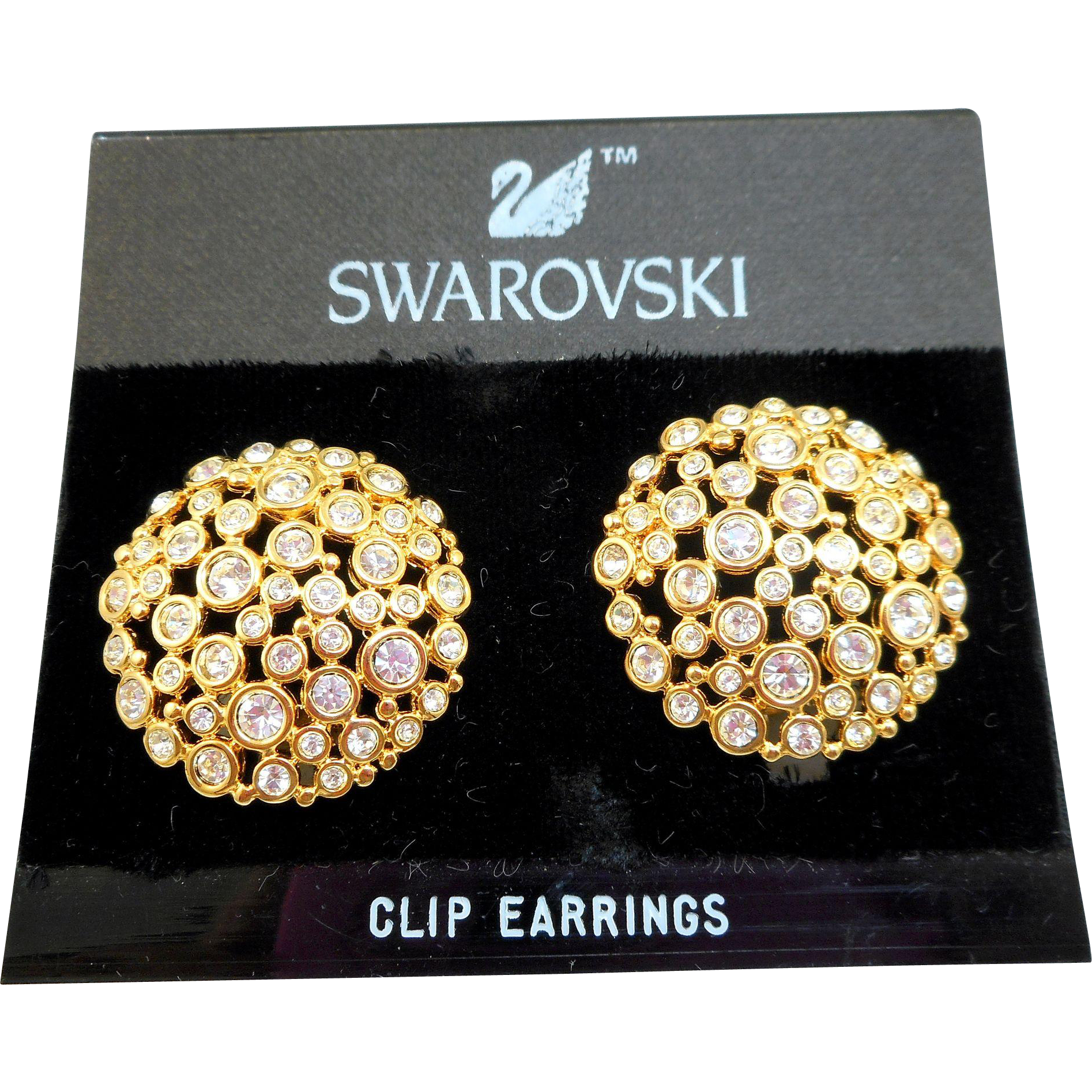 NOS Swarovski Bubbles Earrings - MOC