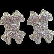 Swarovski Crystal Bow Earrings