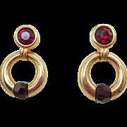 Swarovski Red Door Knocker Earrings