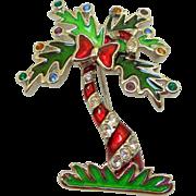 Swarovski Christmas Palm Tree Pin