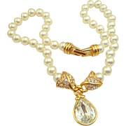 Vintage Swarovski Pearl Necklace