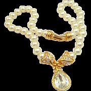 Vintage Swarovski Pearl Necklace