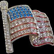 Swarovski Flag Pin