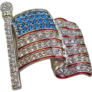 Swarovski Flag Pin