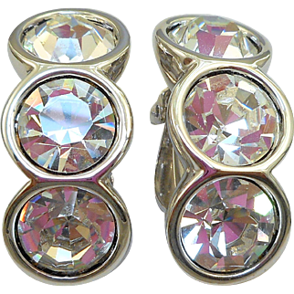 Swarovski Rhinestone Clip Earrings