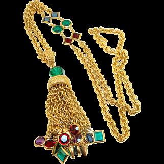 Swarovski Tassel Necklace