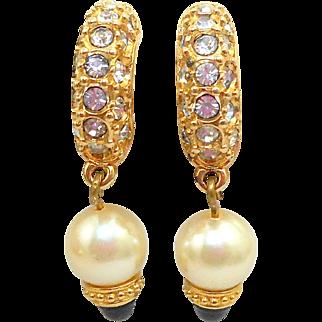 Swarovski Pearl Drop Earrings