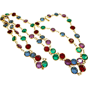 NOS Swarovski Necklace in Jewel Tones