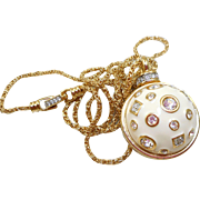 Swarovski Necklace with Ball Pendant