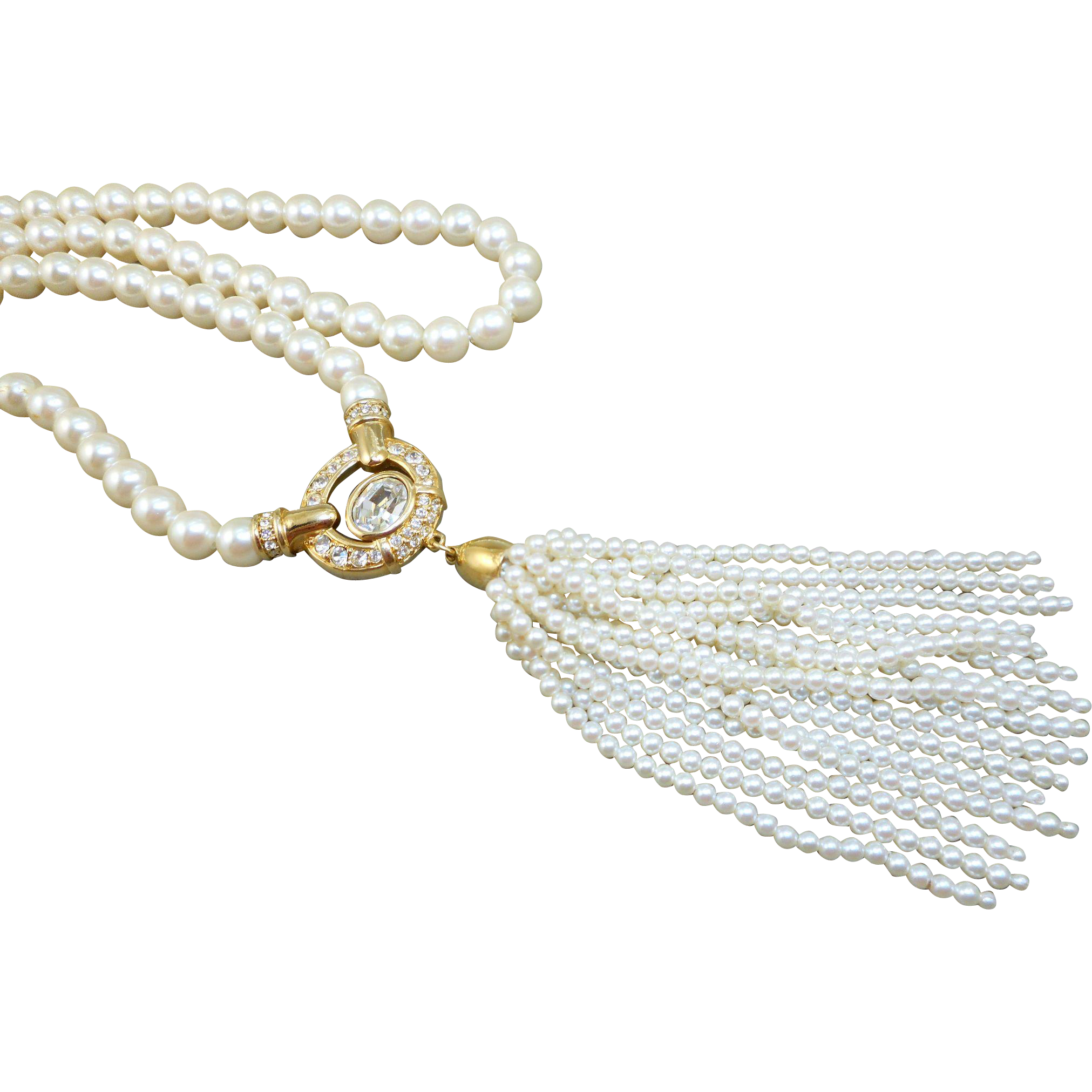 Swarovski Pearl Tassel Necklace