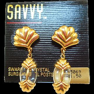 NOS Swarovski Savvy Post Earrings - MOC