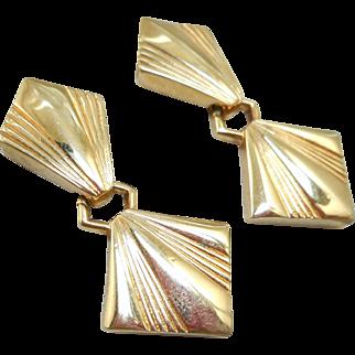 Vintage Swarovski Gold Earrings
