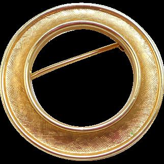 Trifari Circle Pin