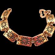 Copper Sun Face Bracelet
