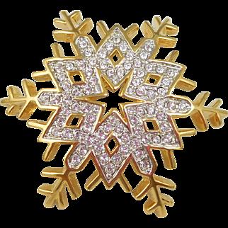 NOS Swarovski Snowflake Pin