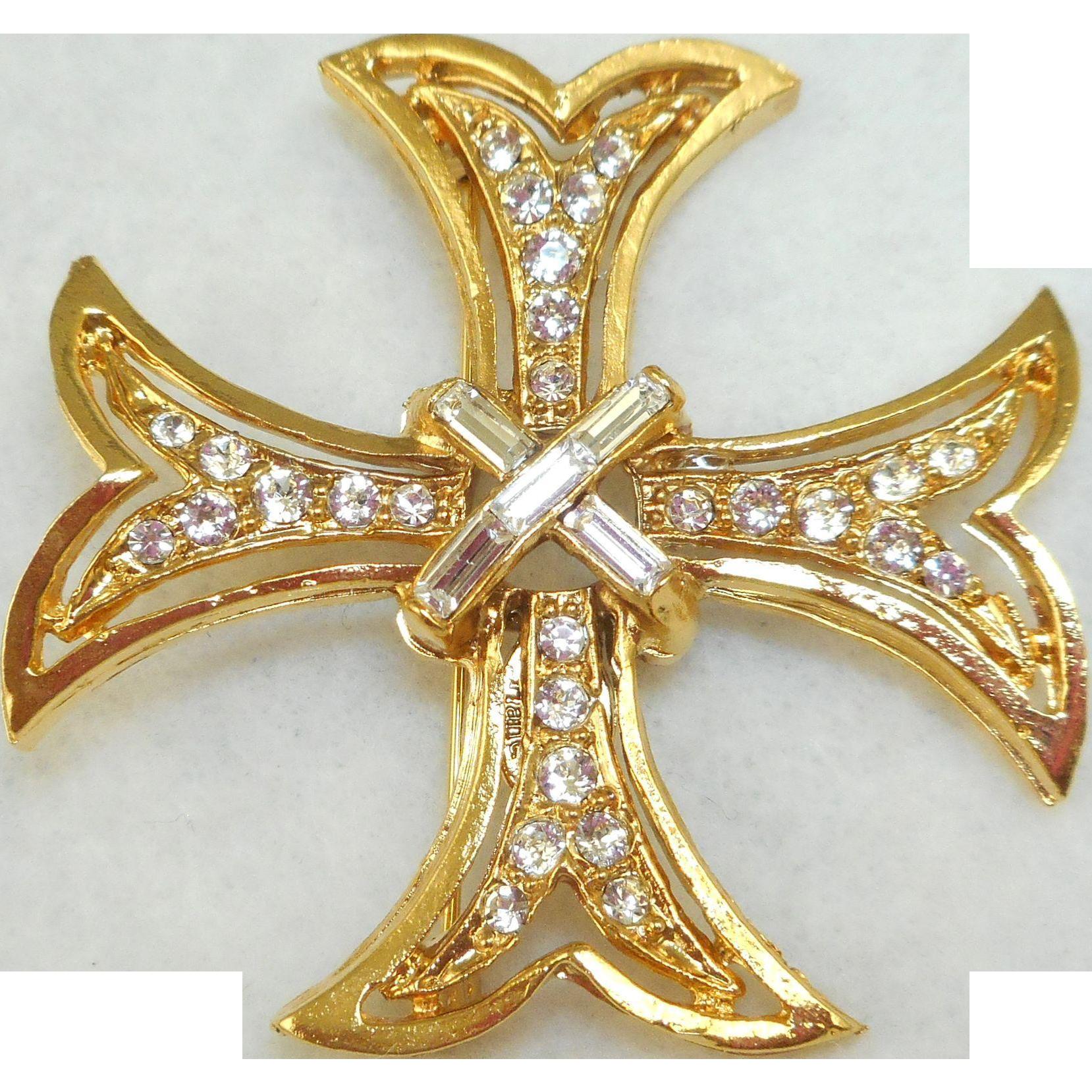Ann Hand Maltese Cross Pin