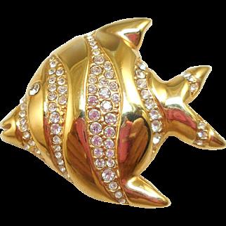 Swarovski Fish Pin