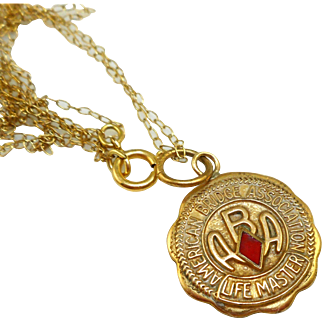 American Bridge Association Life Master Necklace - Vintage
