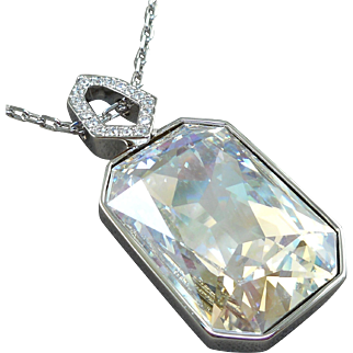 Swarovski Reversible Pendant Necklace