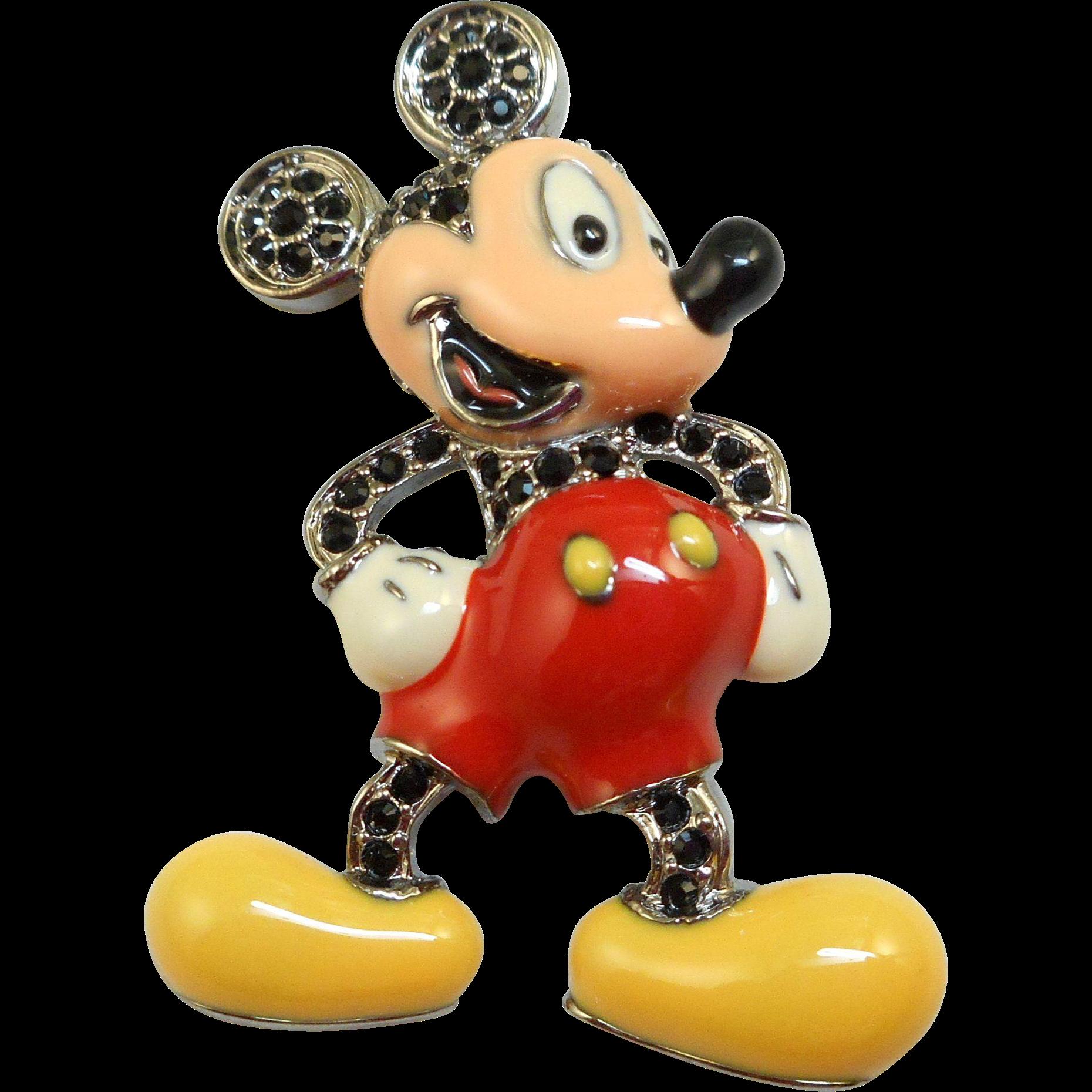 Swarovski Mickey Mouse Pin