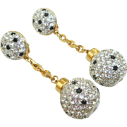 Swarovski Black Polka Dot Ball Earrings