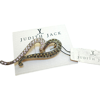 Judith Jack Heart Pin - NOS